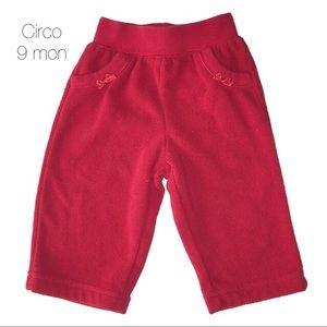 Circo Red Fleece Pants 9 mon